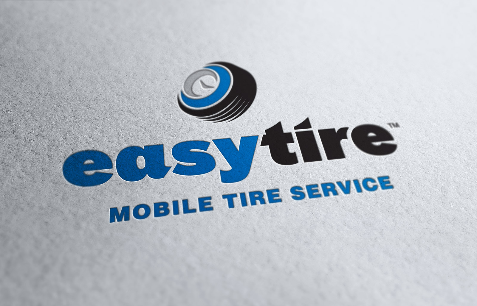 EasyTire - Logo Design - Letterpress