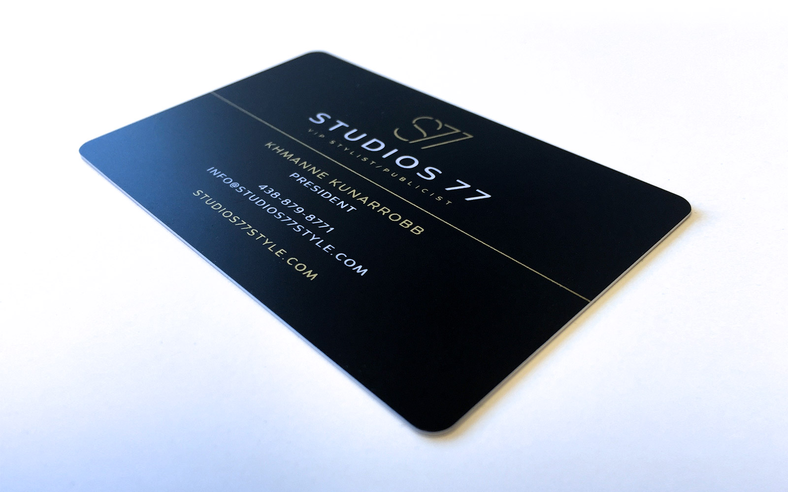Studios 77 - Business Card Design