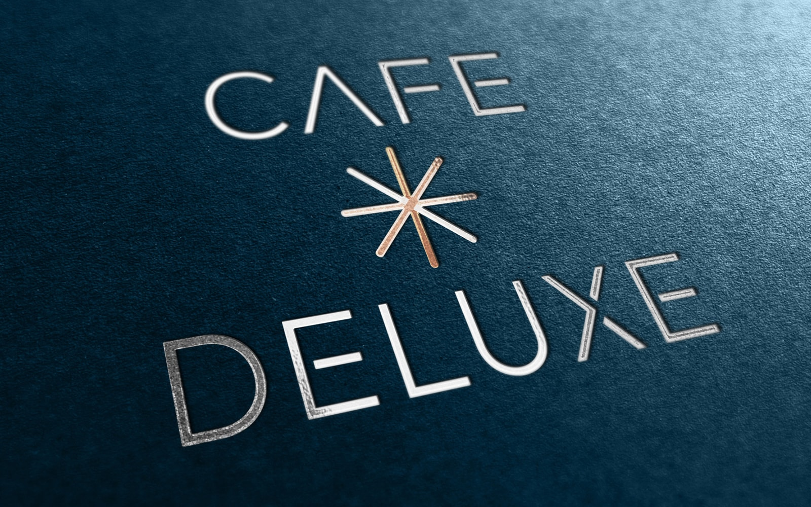 Cafe Deluxe Logo - Foil Stamp