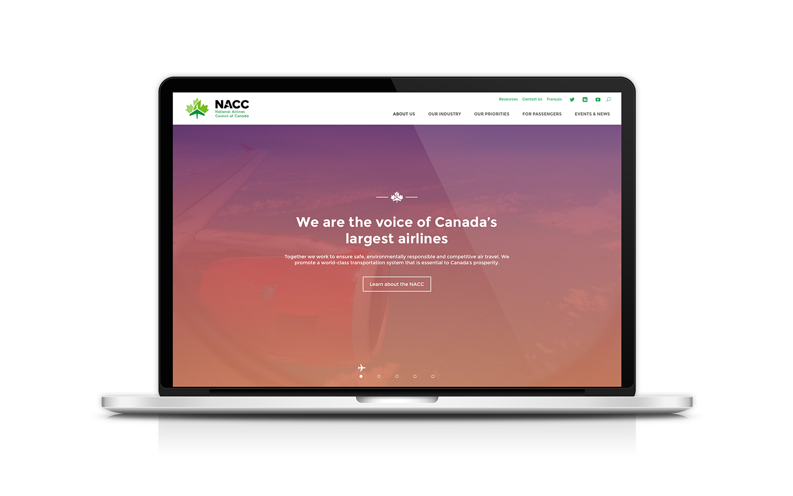 National Airlines Council of Canada - Website Design