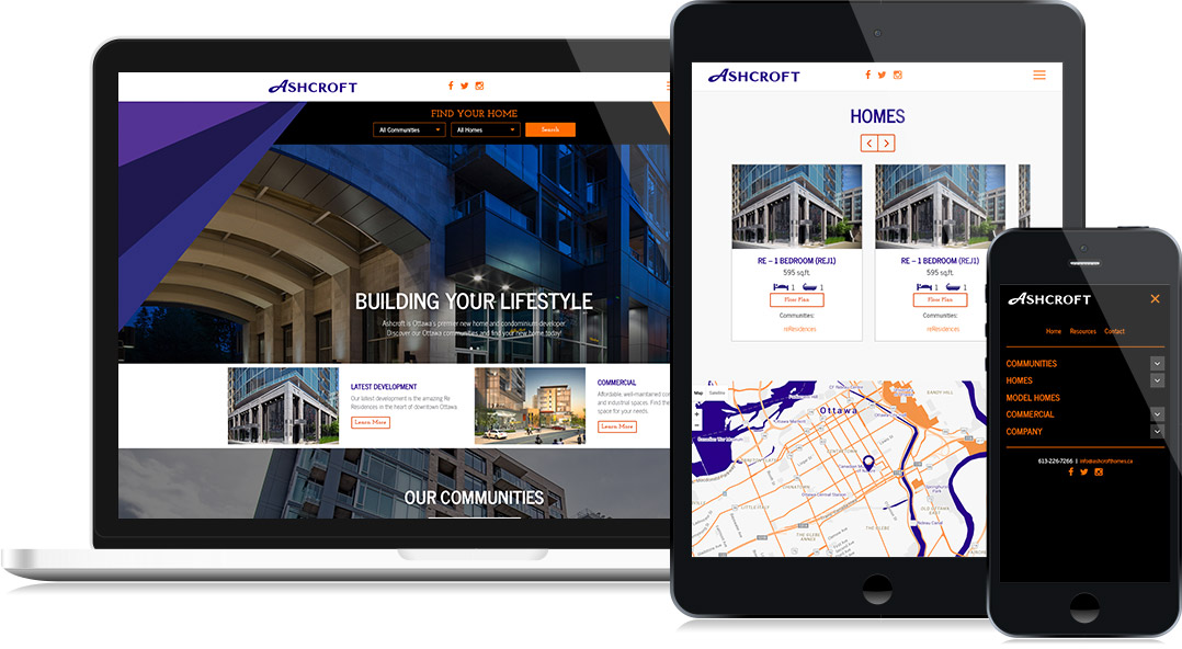 Ashcroft Homes - Website Design