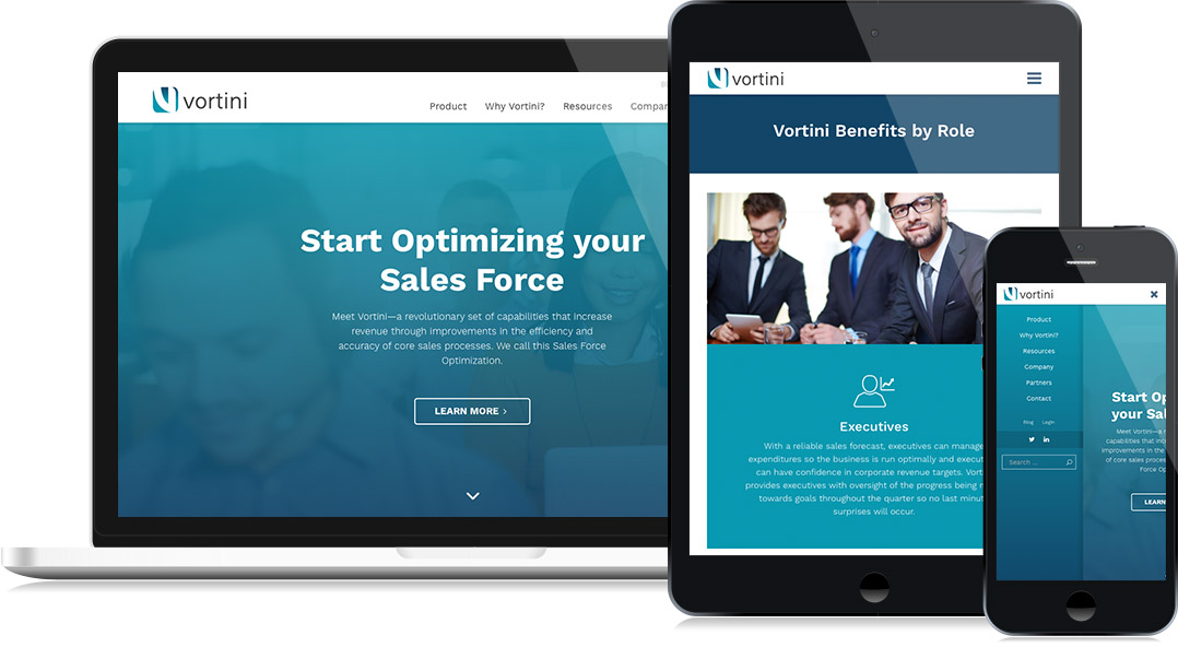 Vortini - Website Design