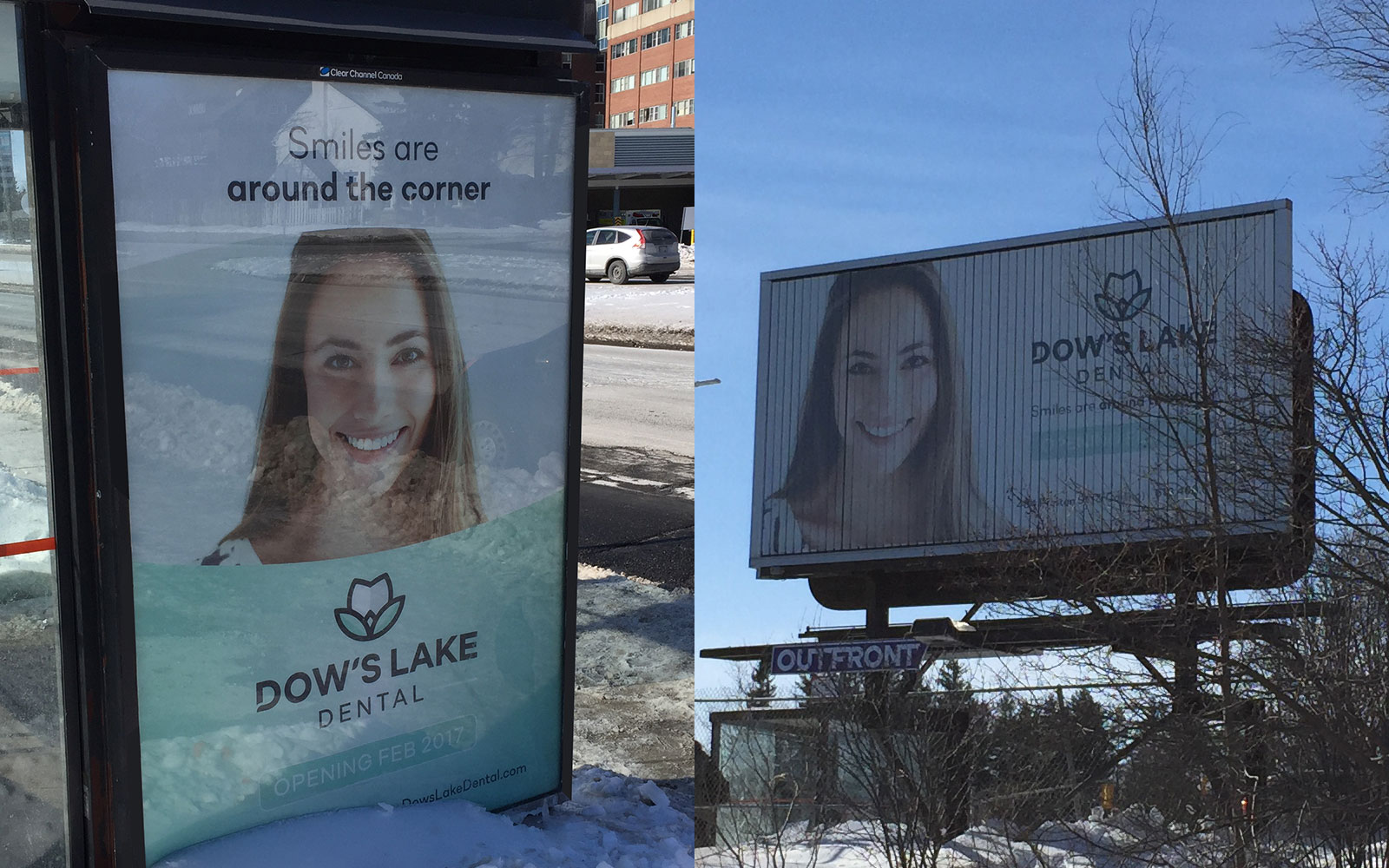 Dow's Lake Dental - Bus Stop and Billboard