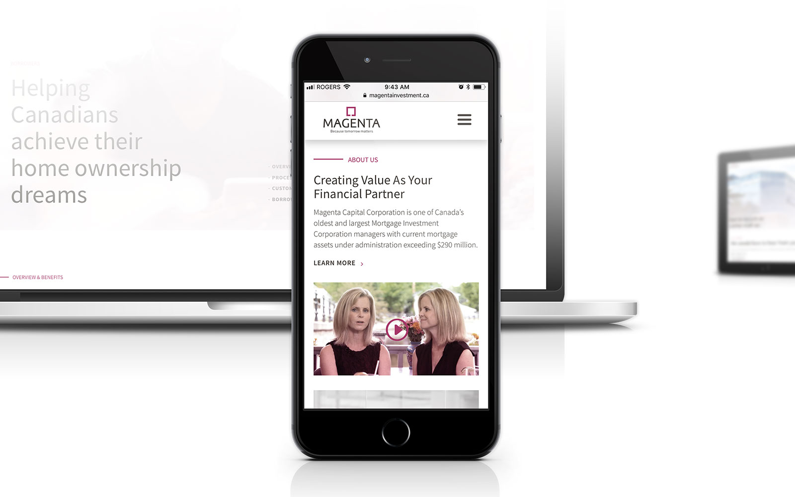 Magenta - Website Design Mobile