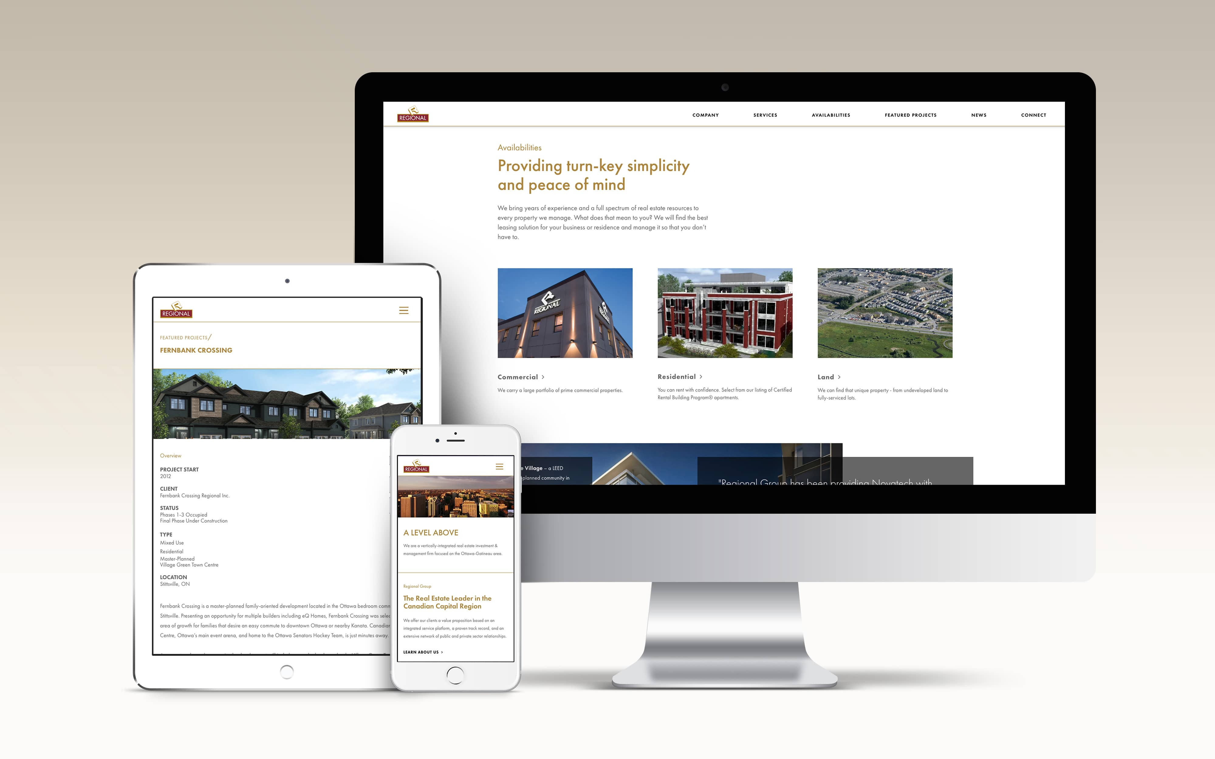 Regional Group - Responsive Website Design
