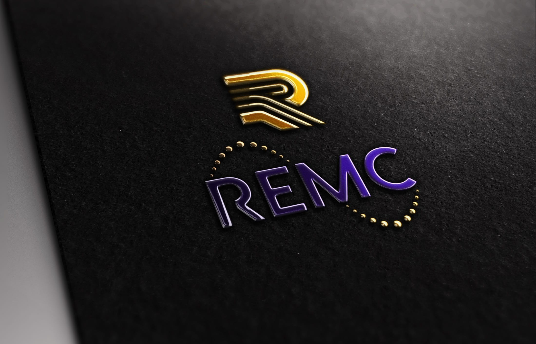 REMC - Hot Foil - Logo Design
