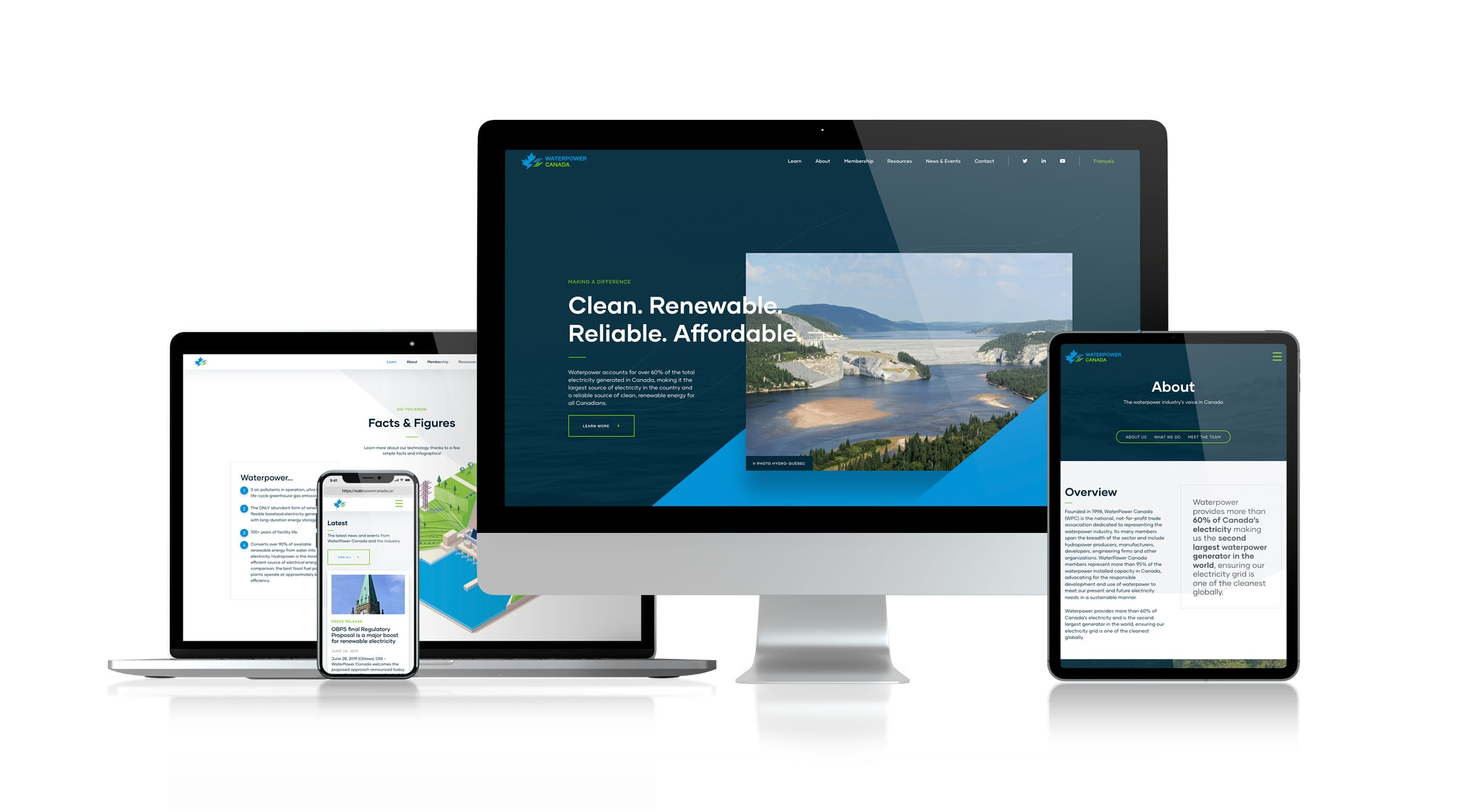 WaterPower Canada - Responsive Web Design
