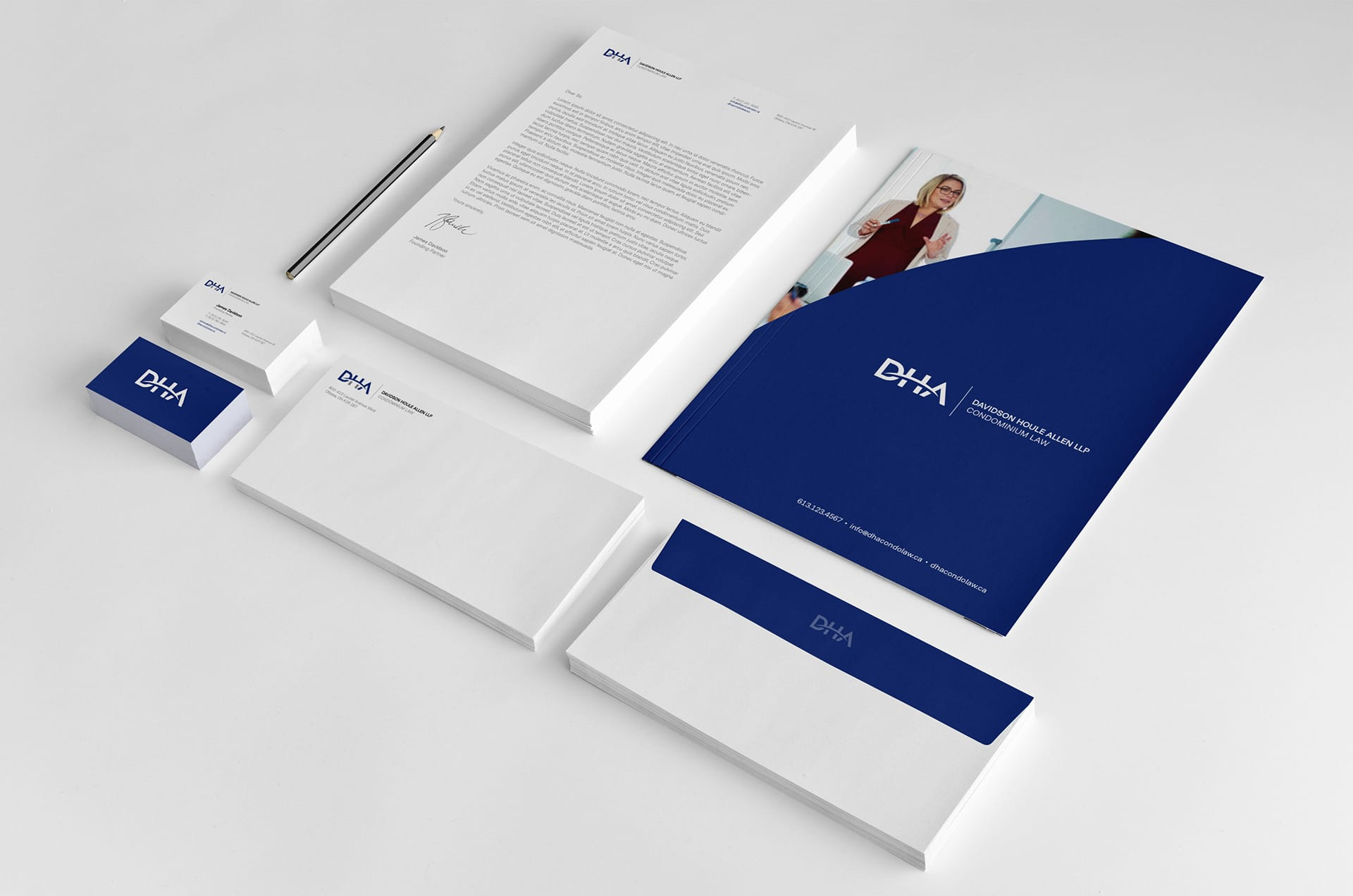 DHA - Stationery Design