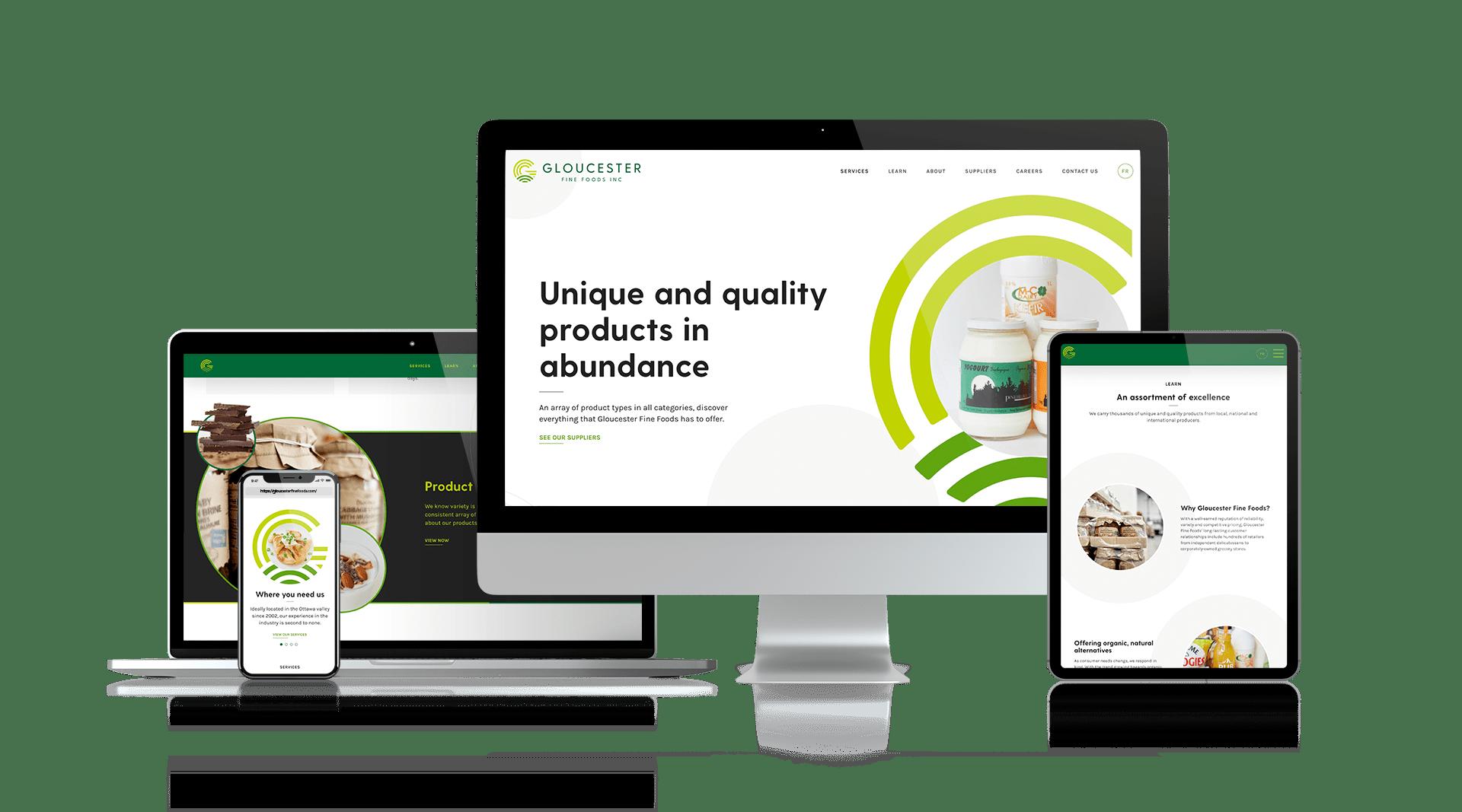 Gloucester Fine Foods - Responsive Design