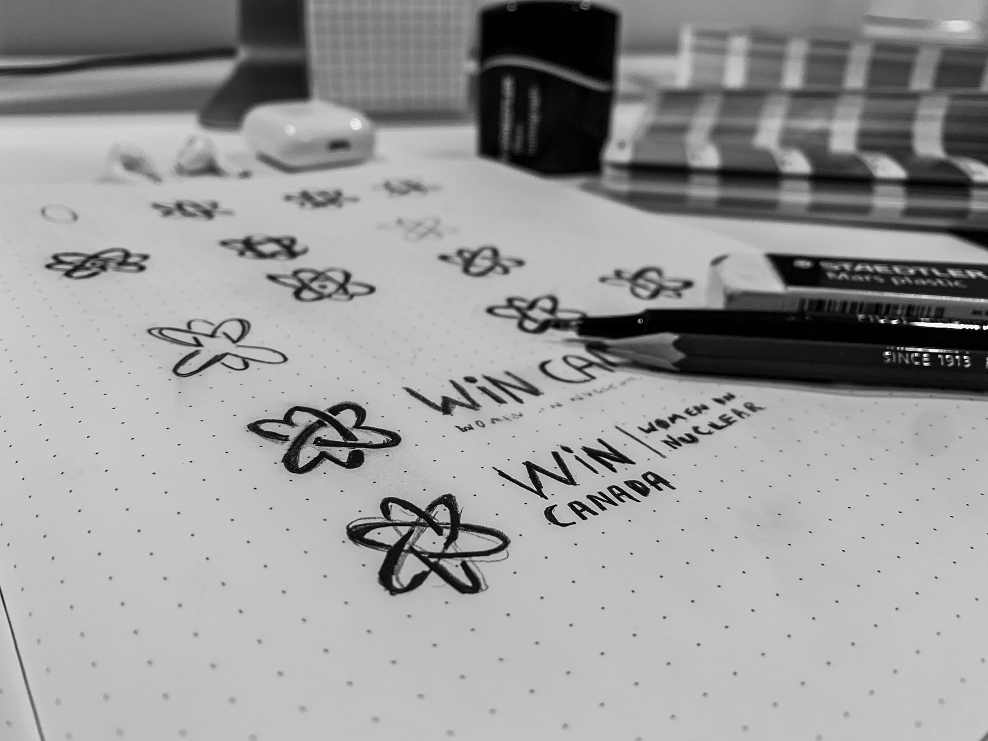 WiN Canada - Logo Design Sketches