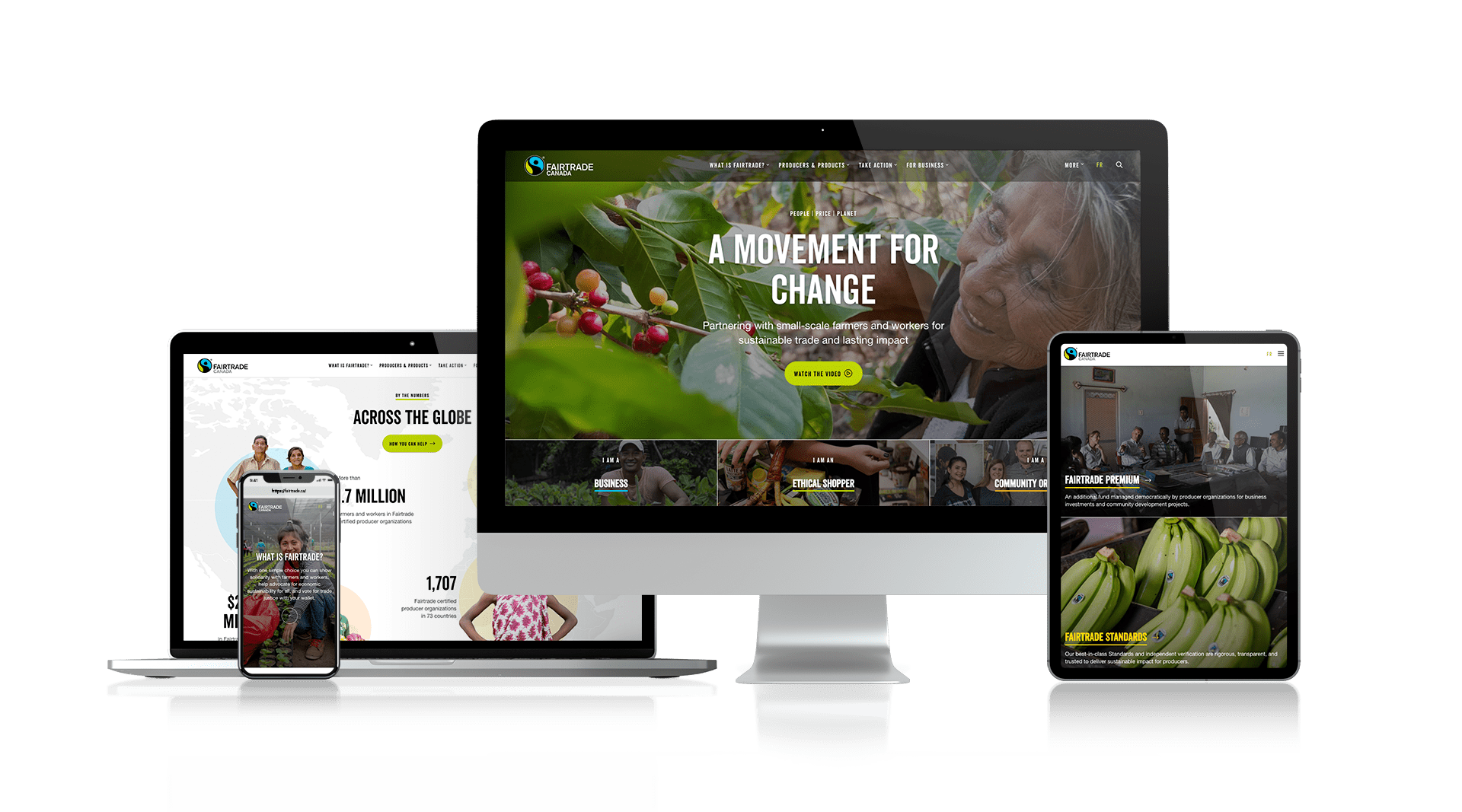 FairTrade Canada - Responsive Design
