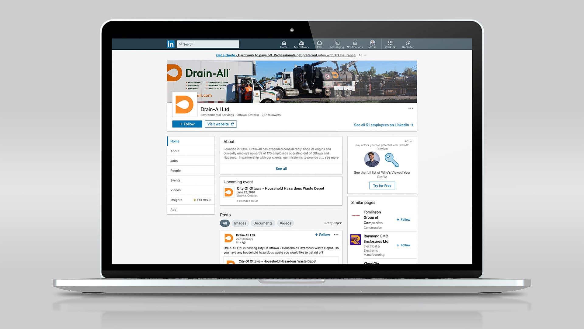 Drain-All - Social Media