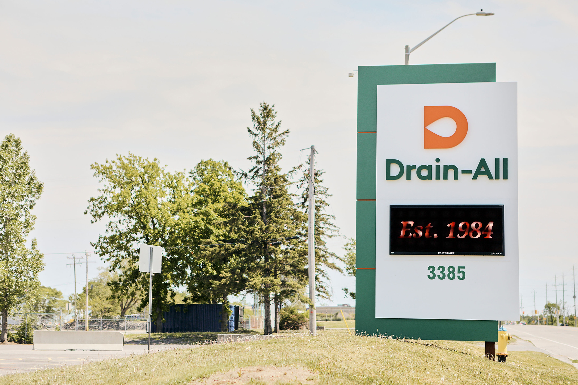 Drain-All - Road Sign